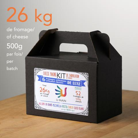 Kits de fabrication de fromage artisanal – 6 fromages