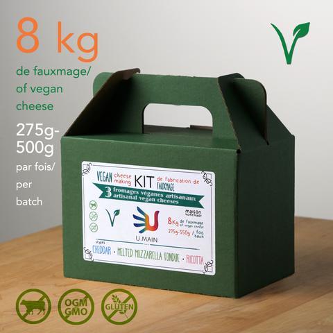 Kit de fabrication de fauxmages artisanaux maison – 3 Fromages véganes
